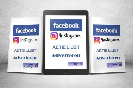 Download gratis het Facebook actie lijst adverteren e-book